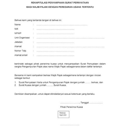 format surat pernyataan kepemilikan harta pajeg lempung contoh surat kuasa pengakuan kepemilikan