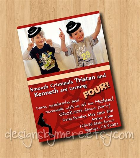 printable michael jackson birthday cards 22 best michael jackson dance party images on pinterest