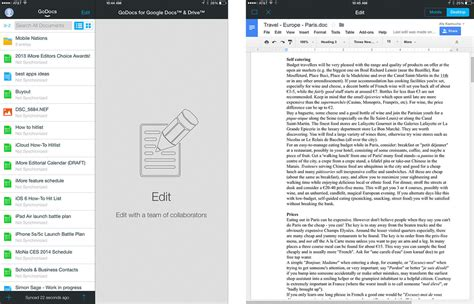 best document best document editing apps for pages drive