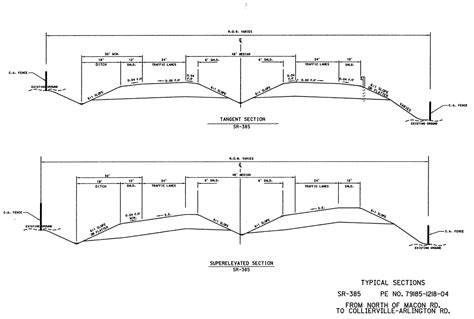 highway cross section design sequence diagram design free engine image for
