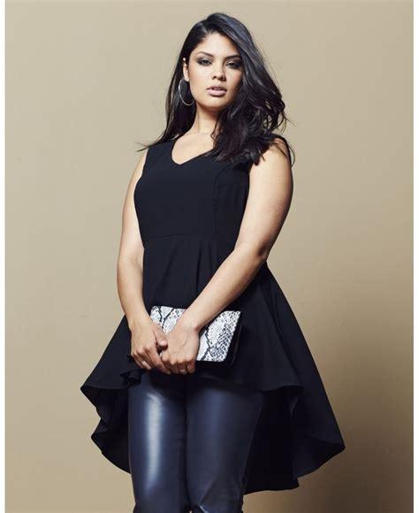 Blouse Bigsize Gabriela by Stylish Peplum Tops For Plus Size Curvyoutfits