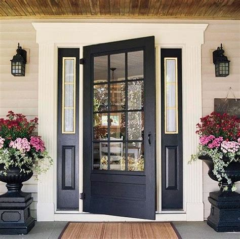 Black Exterior Doors Make A Dramatic Impression 15 Painted Front Doors