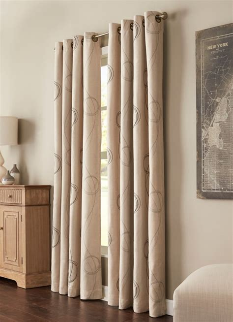 54 x 108 curtains brooke printed grommet natural 54 x 108 70552 109 101