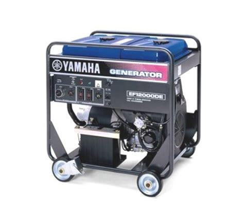 yamaha ef12000de 12 000 watt 635cc ohv 4 stroke gas