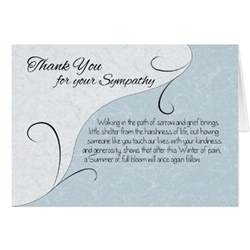 thank you sympathy vintage scroll with sentiments card zazzle