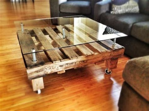 How To Make A Glass Coffee Table Diy Pallet Coffee Table With Glass Top Pallets Designs