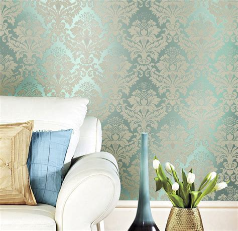 Metallic Bedroom Wallpaper by Aliexpress Buy Non Woven Classic Metallic Flock