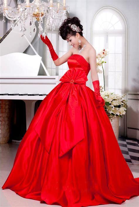 Red Bridal Gowns   DressedUpGirl.com