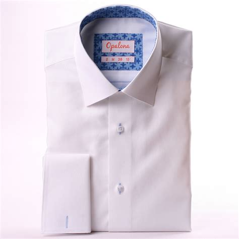 pattern for french cuff white french cuff shirt with blue patterns collar and cuffs