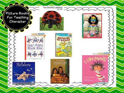picture books to teach characterization character ed picture books