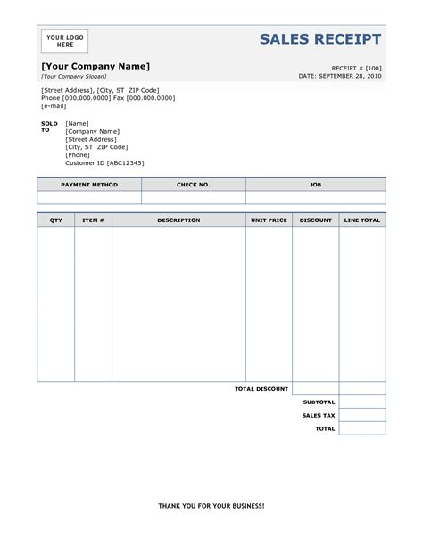 6 sales receipt templates word excel pdf templates