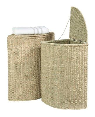 Store Large Seagrass Laundry Basket Seagrass Laundry