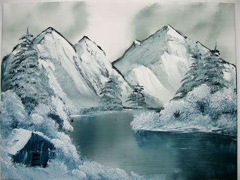 bob ross painting gray painting bob ross style 3 by keitarosan86 on deviantart