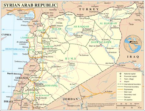 middle east map syria map of syria political map worldofmaps net