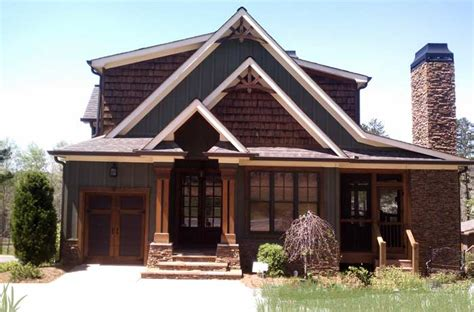 rustic house plan with porches and photos rustic