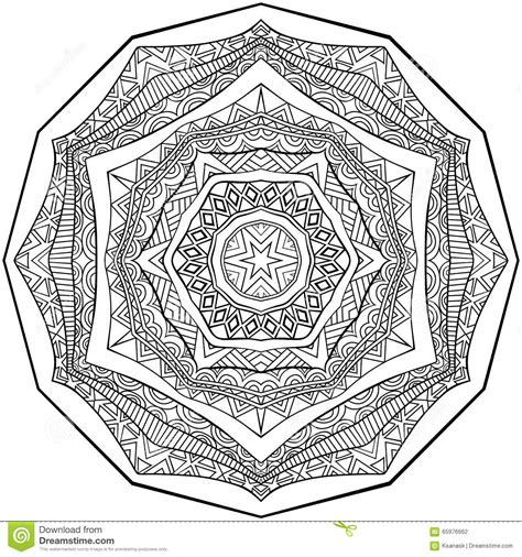 zentangle pattern tribe black and white mandala ornament stock vector image