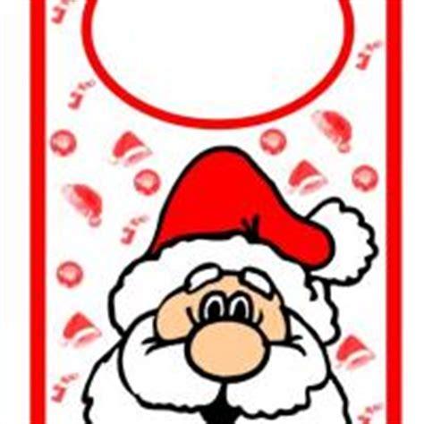 printable christmas door hangers santa door hanger