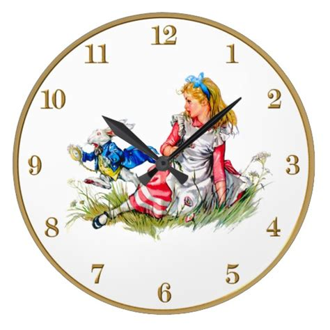 printable white rabbit clock alice in wonderland and the white rabbit clock zazzle com