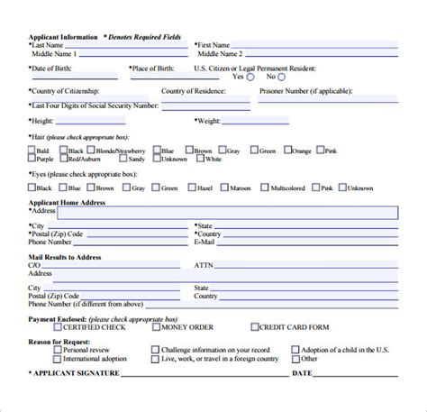 Simple Background Check Background Check Form 7 Free Documents In Pdf Word
