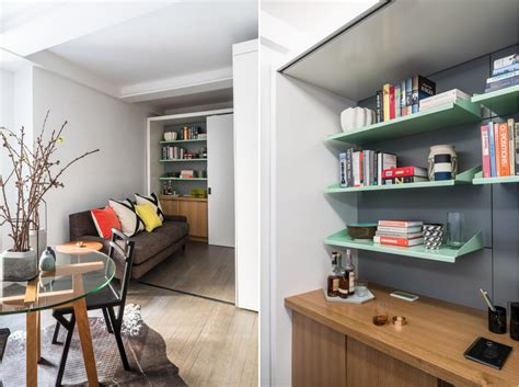 390 square feet this 390 square foot manhattan apartment has a motorized