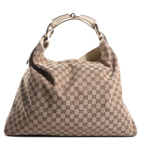 Gucci Chain Large Hobo by Gucci Monogram Large Horsebit Chain Hobo White 85876