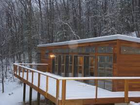 Modern Prefab Cabin by Jetson Green Modern Prefab Cabin Available For Rent On