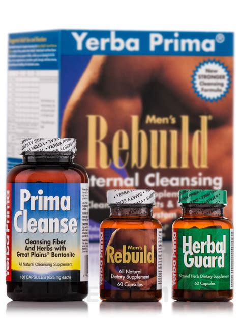 Mens Cleanse Detox by Yerba Prima S Rebuild Cleansing System Detox