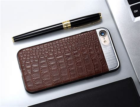 beautifully designed metal leather iphone 7 back cover