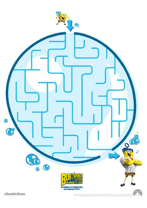 jeu du labyrinthe de bob l 233 ponge hugolescargot