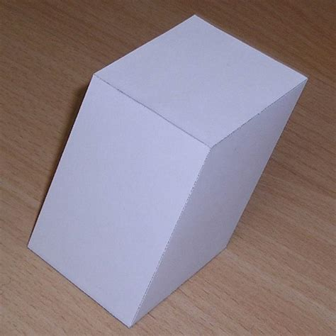 How To Make A Rectangular Prism With Paper - paper oblique rectangular prism