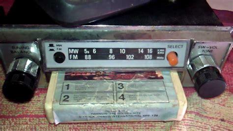 car radio cassette ecrel cs 800 vintage 8 track car stereo radio cassette