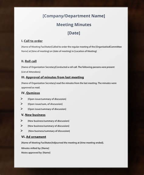 Typing Meeting Minutes Template Best Meeting Minutes Template 24 Free Word Pdf Documents Download Free Premium Templates