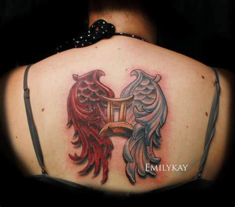 gemini good and evil wings by emily kay tattoonow