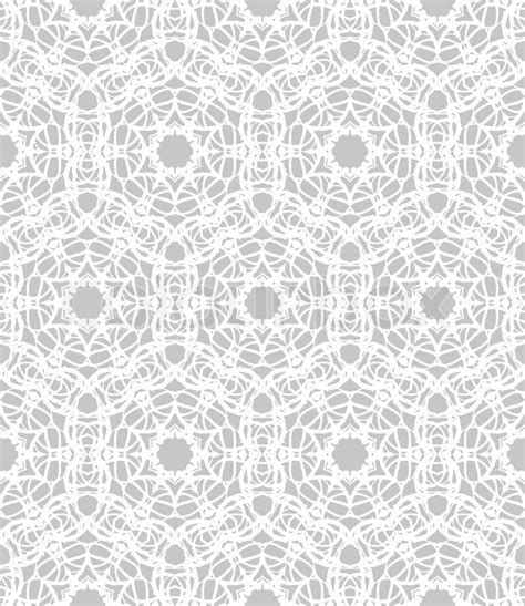 Luxurious, elegant linear seamless vector pattern in white