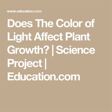 does the color of light affect plant growth does the color of light affect plant growth science