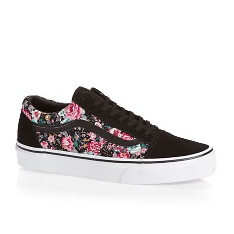 Vans Skool Blackl White Jual Vans Oldskool vans skool shoes multi floral black true white free delivery