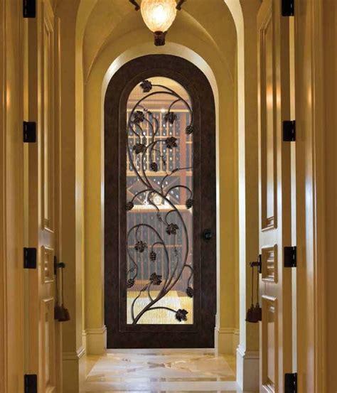 Wine Closet Doors Forged Iron Doors Mediterranean Wine Cellar Ta By Us Door More Inc
