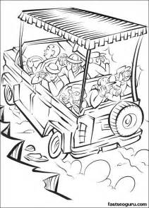 safari coloring pages print out madagascar 2 safari in africa coloring page