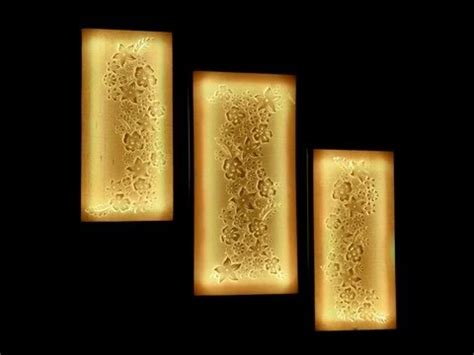 Led Wall Sconce Battery Flower Canvas Wall Art Tutorial Youtube