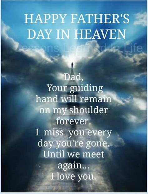 Quotes For S Day In Heaven Happy S Day In Heaven Quotes Quote Fathers Day