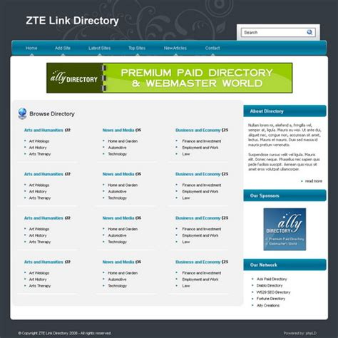 templates for directory website free phpld templates ally web directory part 3