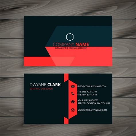 black business card template vector modern black business card with details vector free
