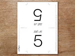 table number template calligraphy monogram