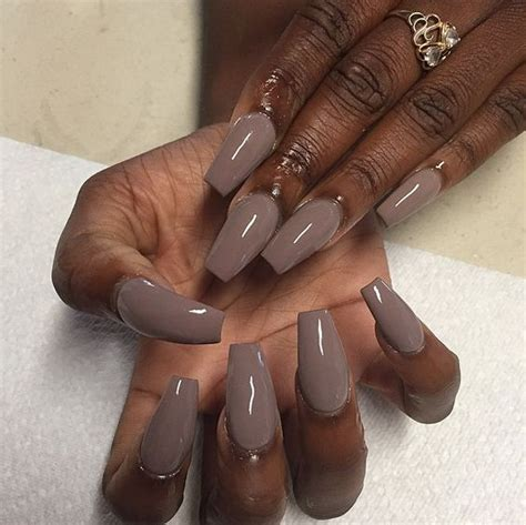 fall nail colors for skin multi shapes of brown acrylic fingernails for fall 30
