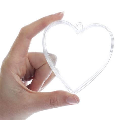 clear acrylic fillable heart ornaments acrylic fillable ornaments craft supplies