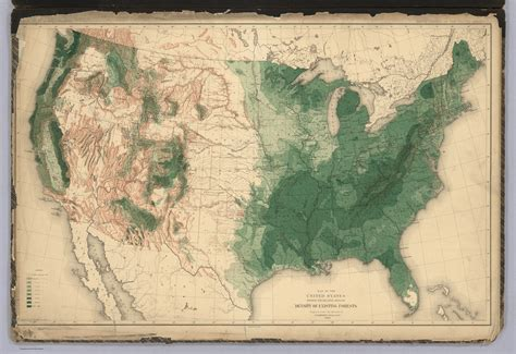 forest map of usa history of american forests tree maps made for 1884 census