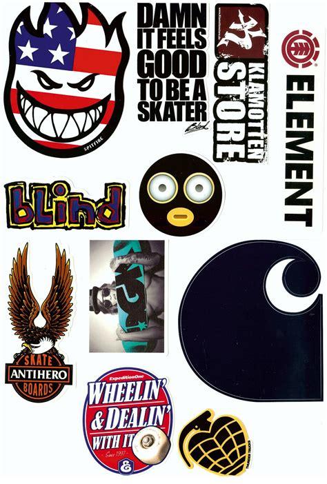 Marken Aufkleber Kaufen by Klamottenstore Skate Marken Aufkleber 12 Sticker Im Set