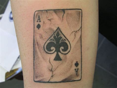 ace of hearts tattoo 25 addictive card tattoos slodive