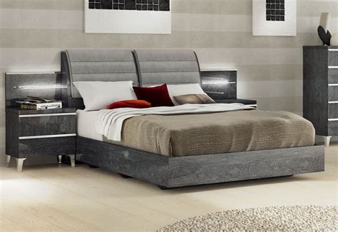 Imported Bedroom Furniture Lacquered Made In Italy Wood Elite Platform Bed With Storage Esfeli