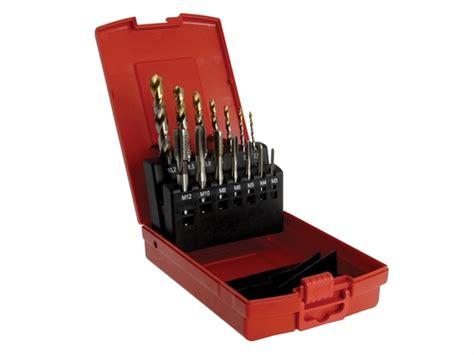 dormer tools dormer l115101 a002 drill bits e500 hss mc tap set 14pc